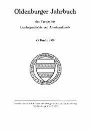 Oldenburger Jahrbuch - der Landesbibliothek Oldenburg