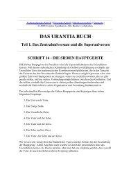 Das Urantia Buch - Schrift 16 - Die sieben Hauptgeiste