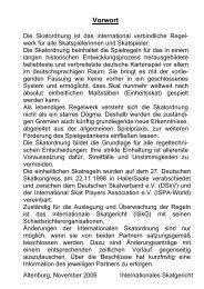 Skatordnung - SV Johann Friedrich