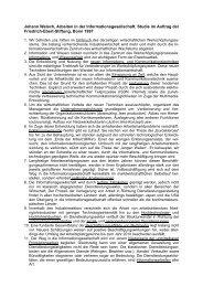 Arbeiten in der Informationsgesellschaft. Studie im Auftrag der ...
