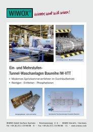 Ein- und Mehrstufen- Tunnel-Waschanlagen Baureihe IW-VTT - Wiwox