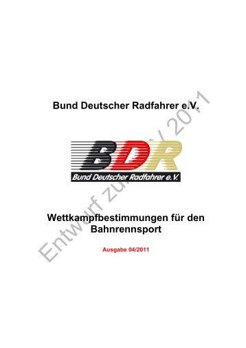 Wettkampfbestimmungen für den Bahnrennsport - Radsport-in ...
