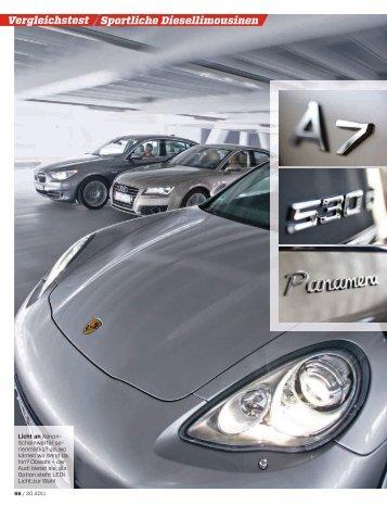 Sportliche Diesellimousinen Vergleichstest - Audi