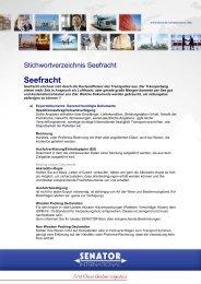 Seefracht - Senator International