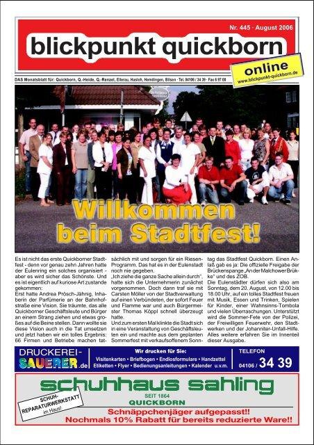 Nr 445 August 2006 Blickpunkt Quickborn