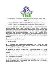 Inspektion und Wartung von Spielplätze - VKE