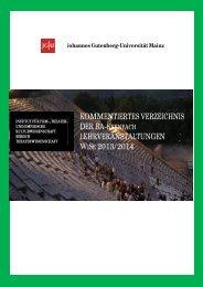 Stand 08.08.2013 - Institut für Theaterwissenschaft - Johannes ...