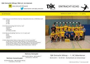 Ausgabe 11: 22. Spieltag, Saison 2012/2013 - DJK Eintracht Hiltrup