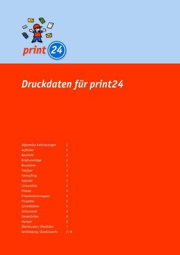 Druckdaten für print24