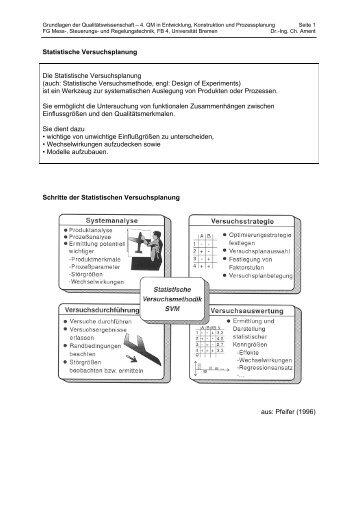 Zur Definition der Zufallsvariable: - Universität Bremen