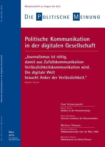 Politische Kommunikation in der digitalen Gesellschaft - Govermedia