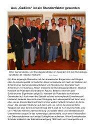 CDU- Gemeinderats - CDU-Gemeindeverband Schönbrunn