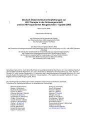 Deutsch-Österreichische Empfehlungen zur HIV ... - Frauenklinik