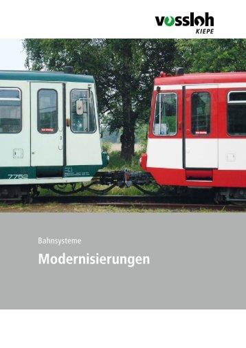 Modernisierungen - bei Vossloh Kiepe