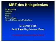 MRT des Kniegelenkes