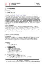 4. Adventssonntag Lesejahr C - Katholisches Bibelwerk