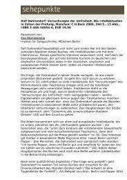 Ralf Dahrendorf: Versuchungen der Unfreiheit. Die ... - Sehepunkte