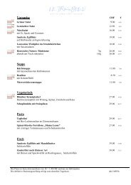 Vorspeise Suppe Vegetarisch Pasta Fisch - gastro-tipp.ch