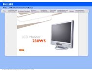 Philips LCD Monitor Electronic User's Manual
