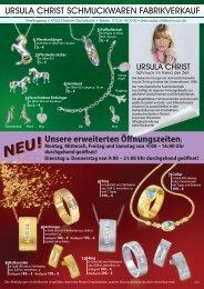 ursula christ schmuckwaren fabrikverkauf - Ursula-Christschmuck.de