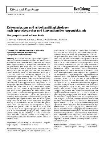 RCT Blinddarm-OP