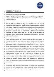 """Stefan Waghubinger mit """"Langsam werd' ich ungemütlich"""""""