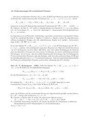 Einige Grundlagen stochastischer Prozesse