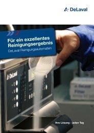 Produktinformation über Reinigungsautomaten - DeLaval