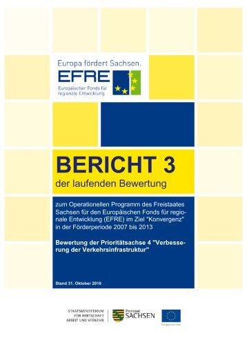 Bericht Nr. 3 der laufenden Evaluierung zum OP EFRE 2007-2013