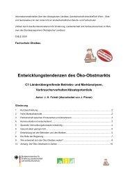 Entwicklungstendenzen des Öko-Obstmarkts - Oekolandbau.de
