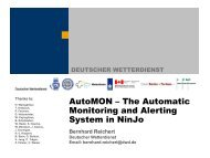 AutoMON – The Automatic Monitoring and Alerting System in ... - Knmi