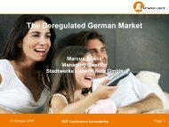The Deregulated German Market