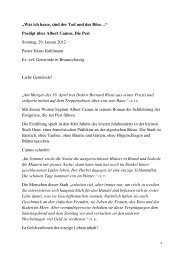weiterlesen - Evangelisch-reformierte Gemeinde Braunschweig