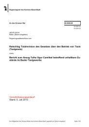 2013-07-02 ratschlag taxigesetz_dub - Regierungsrat - Basel-Stadt