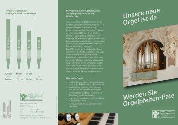 Orgelpfeifenpatenschaft? - Kirchengemeinde Tettnang