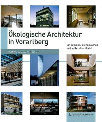 Ökologische Architektur in Vorarlberg (Deutsche Übersetzung der ...
