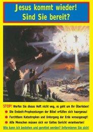 Jesus kommt wieder! Sind Sie bereit? - Übrigen