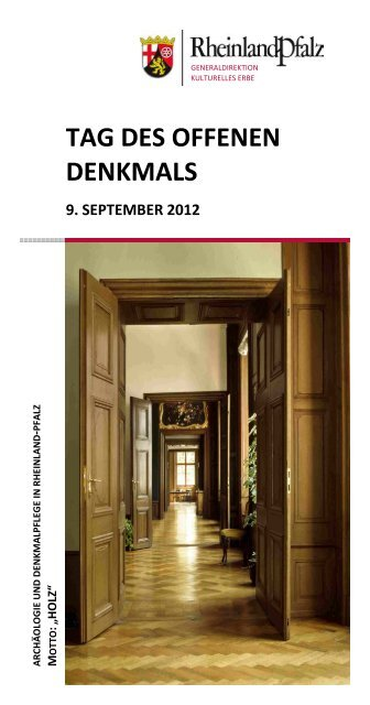 Tag des offenen Denkmals 2012 - Generaldirektion Kulturelles Erbe ...