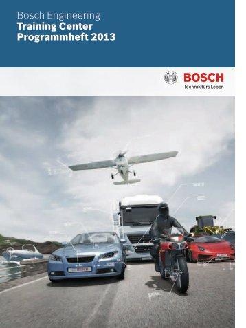 Schulungsangebot 2013 - Bosch Engineering