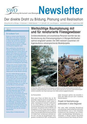 Ausgabe Februar 2009 - Stiftung Wirtschaft und Ökologie SWO