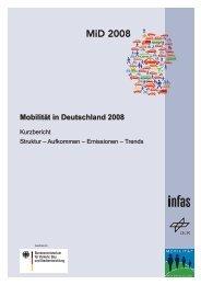 Kurzfassung des Ergebnisberichts MiD 2008 - Mobilität in Deutschland