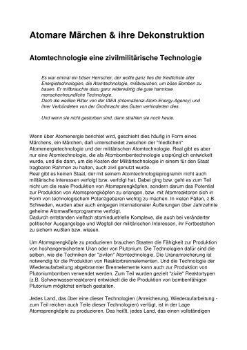 Atomare Märchen & ihre Dekonstruktion - irrliche.org