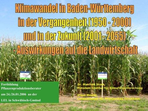 Klimawandel in Baden-Württemberg in der Vergangenheit und