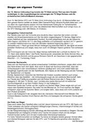 Bericht 15. Unihockey Cup - TV Stein
