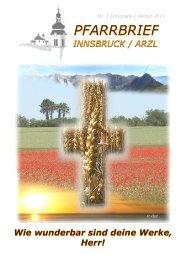 Ausgabe Nr3 2011 - Pfarrgemeinde Innsbruck-Arzl