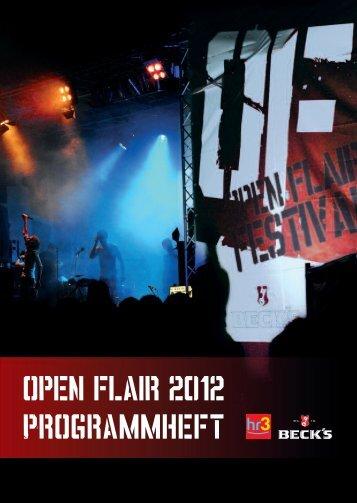 open flair 2012 Programmheft