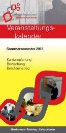 Sommersemester 2013 - Hochschule Anhalt
