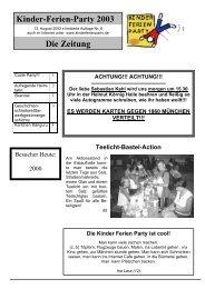 Zeitung Nr. 8 als PDF - Kinder-Ferien-Party