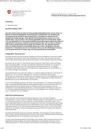 Witterungsbericht - SLF