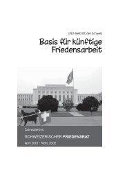 jahresbericht01-02 - Schweizerischer Friedensrat